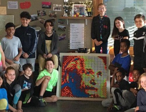 Das Gemeinschaftsprojekt: Zauberwürfel-Mosaik im Klassenzimmer